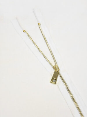 Молния разъемная белая золото 65 см (m0922) - Фото 15