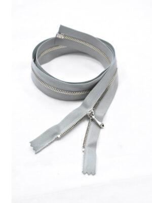 Молния разъемная металл никель светло-серая 60 см (м1033) - Фото 16
