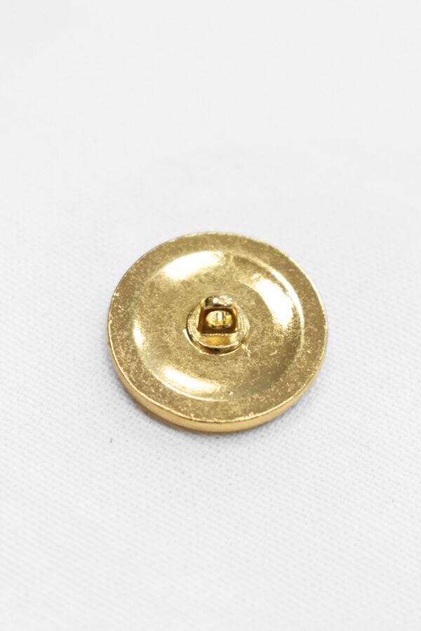 Пуговица металл золото с белой эмалью 19 мм (p0905) к4 - Фото 7