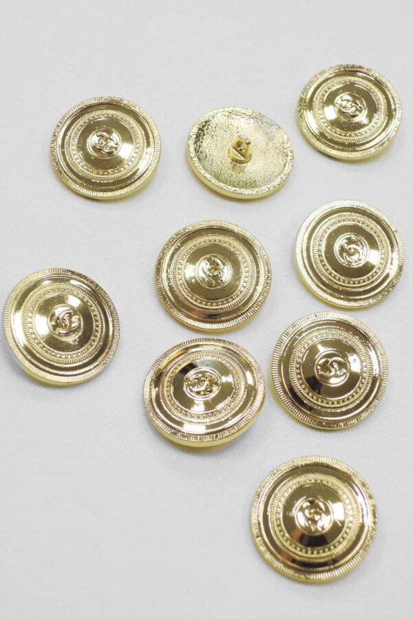 Молния металл золото костюмная (p0933) к20 - Фото 8
