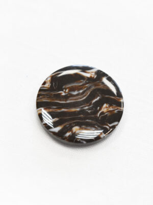 Пуговица пластик коричневая с мраморным узором (р1197) - Фото 12