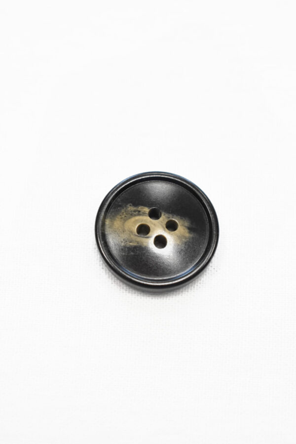 Пуговица маленькая черная с бежевыми вкраплениями (р1200, р1343) - Фото 6