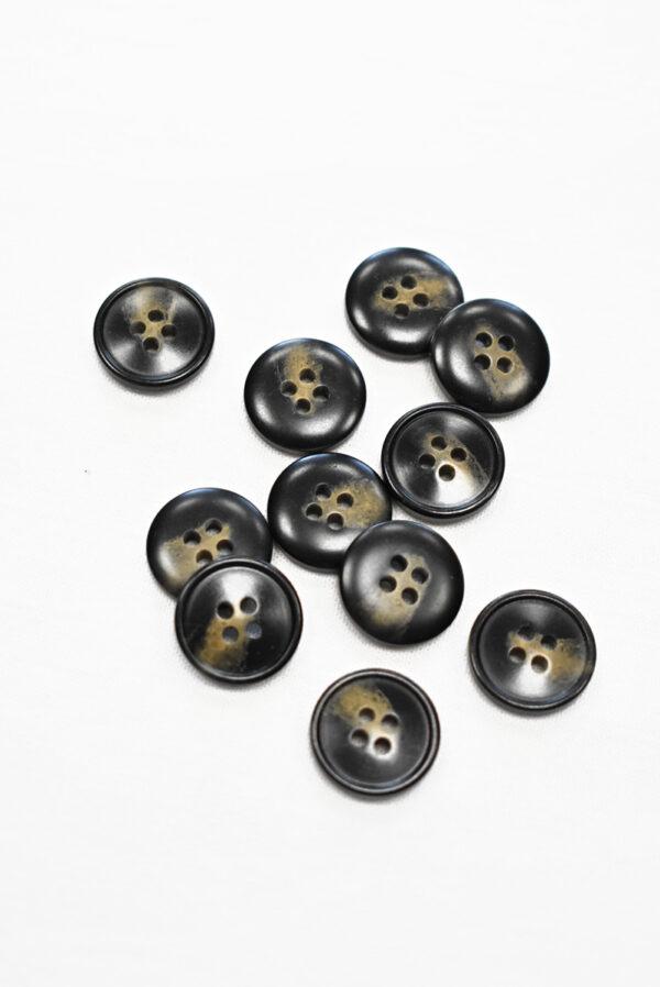 Пуговица маленькая черная с бежевыми вкраплениями (р1200, р1343) - Фото 8