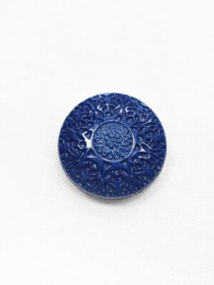 Пуговица пластик синяя с резьбой (р1209) - Фото 11