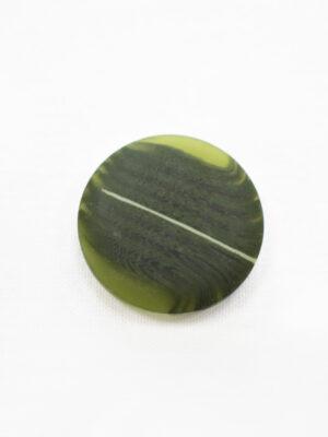 Пуговица большая оливковая с разводами (р1220) - Фото 10