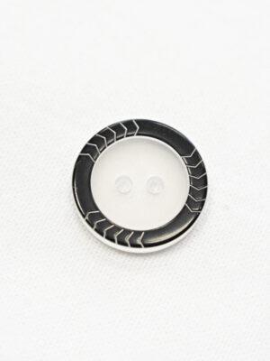 Пуговица блузочная прозрачная с черной окантовкой (р1222) - Фото 17