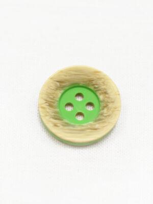 Пуговица пластик беж с зеленой серединкой (р1236) - Фото 10