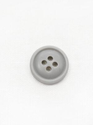 Пуговица серая маленькая на четыре прокола (р1244) - Фото 15