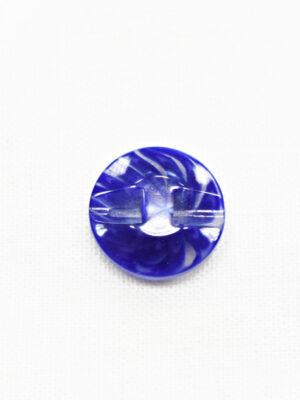 Пуговица пластик синяя полупрозрачная с мелким цветочком (р1249) - Фото 15