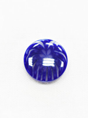 Пуговица пластик синяя полупрозрачная с мелким цветочком (р1249) - Фото 14