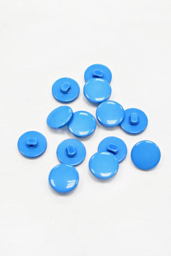 Пуговица пластик голубая на ножке (р1298) - Фото 8