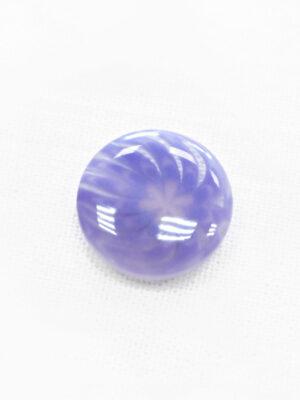 Пуговица пластик сиреневая полупрозрачная с мелким цветочком (р1307) - Фото 14