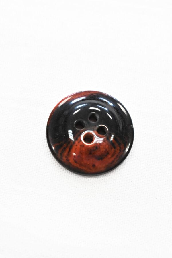 Пуговица черная с красными вкраплениями (р1205, р1336) - Фото 7