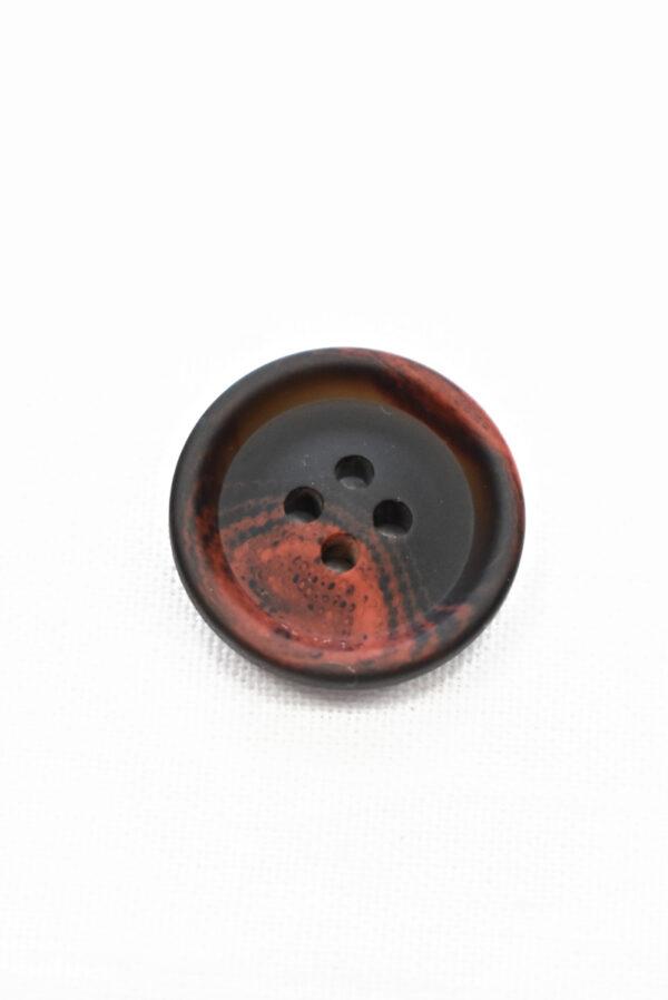 Пуговица черная с красными вкраплениями (р1205, р1336) - Фото 6