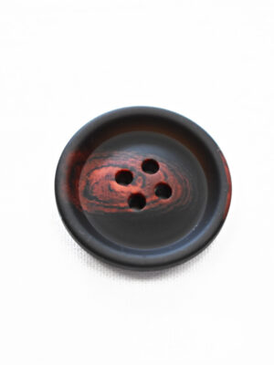 Пуговица большая черная с красными вкраплениями (р1398) - Фото 13
