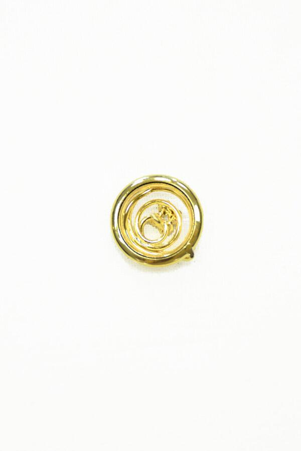 Пуговица металл золото с мелкими кристаллами 1