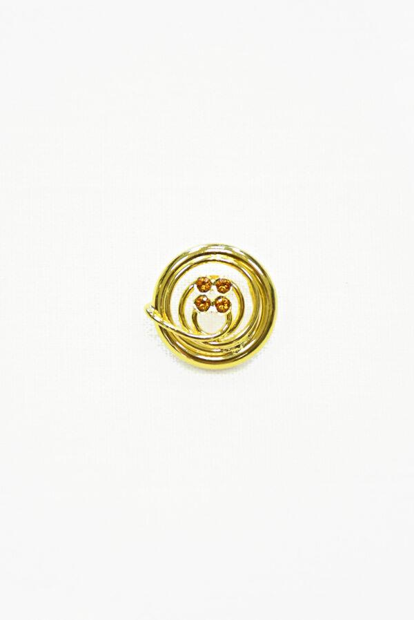 Пуговица металл золото с мелкими кристаллами