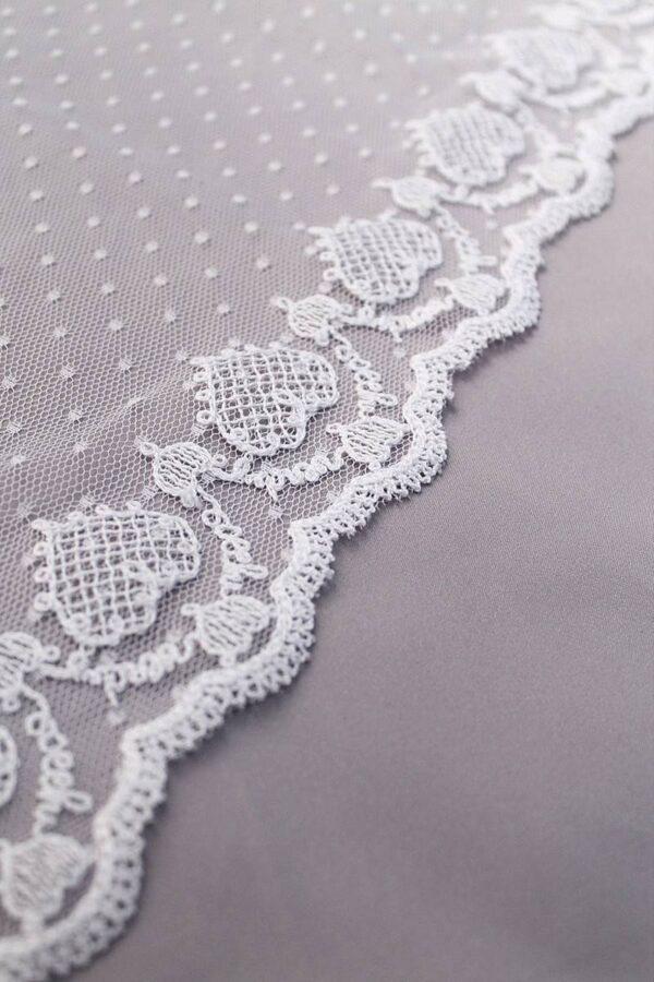 Кружево отделочное белое вышивка сердечки (t0069) т-23 - Фото 8
