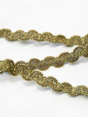 Тесьма золотая косичка с люрексом (t0083) К-14 - Фото 11
