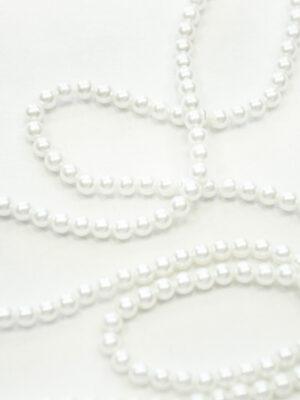 Тесьма жемчужная нить молочно-белая (t0125) К-броши и декоры 2 - Фото 15