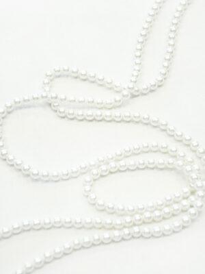Тесьма жемчужная нить молочно-белая (t0125) К-броши и декоры 2 - Фото 14