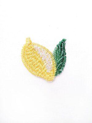 Аппликация лимон вышивка стеклярус (t0449) А-1 - Фото 15