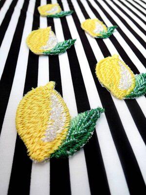 Аппликация лимон вышивка стеклярус (t0449) А-1 - Фото 16