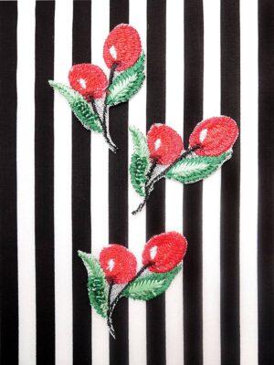Аппликация вишни вышивка бисер (t0450) А-1 - Фото 10
