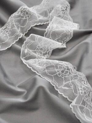 Кружево белое с цветами и фестонами (t0488) к-22 - Фото 9
