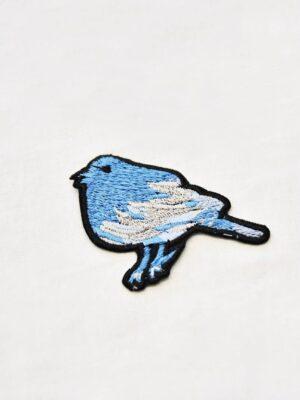 Термоаппликация птичка голубого оттенка (t0514) А-1 - Фото 14