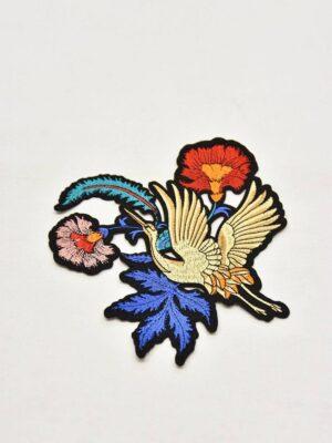 Термоаппликация журавль цветы листья (t0543) А-1 - Фото 11