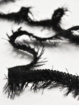 Тесьма черная с длинной бахромой (t0594) т-7 - Фото 14
