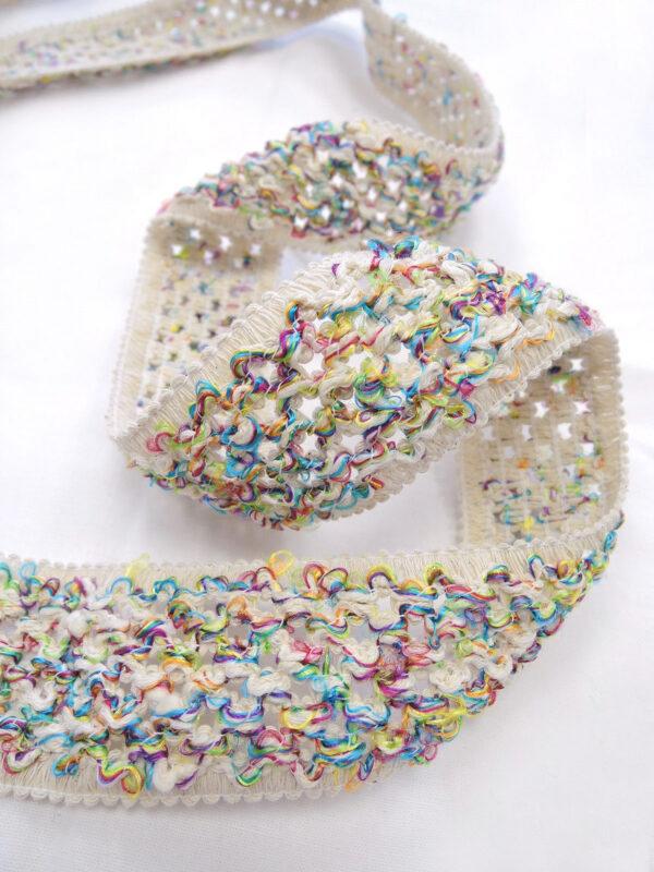 Тесьма плетеная на резинке мультиколор (t0636) т-18 - Фото 6
