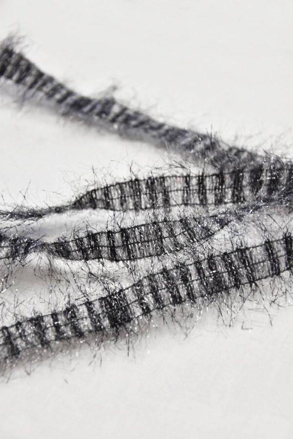 Тесьма серый с люрексом и бахромой (t0675)т-7 - Фото 8