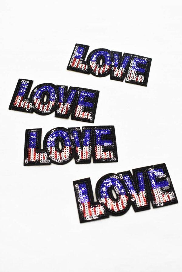 Термо аппликация LOVE (t0788) А-1 - Фото 7