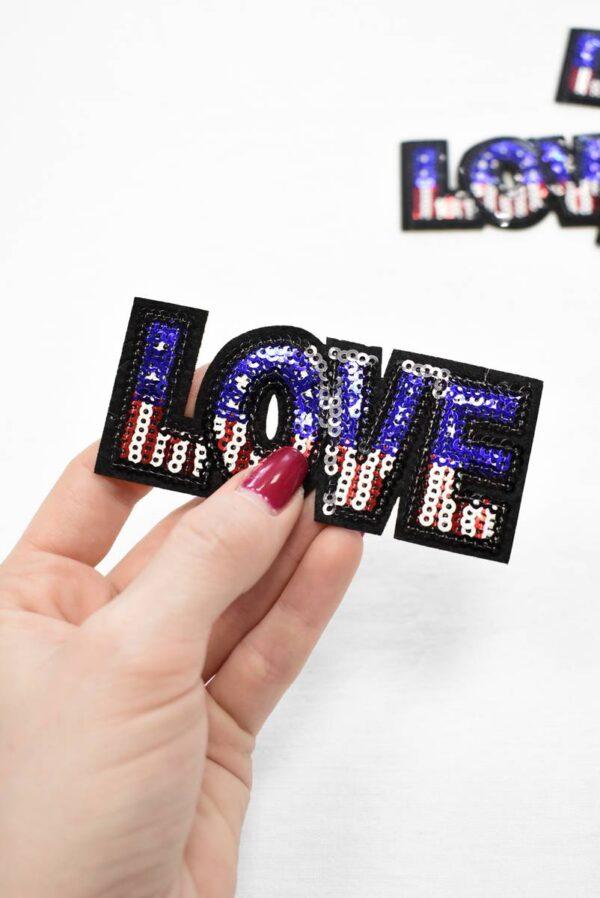 Термо аппликация LOVE (t0788) А-1 - Фото 8