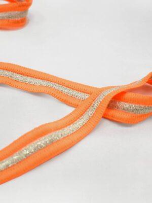 Лампасы ярко-оранжевые с люрексом (t0794) т-24 - Фото 16