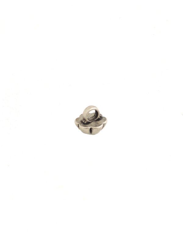 Пуговица металл серебро цветочек с кристаллом (P0012) к14н - Фото 7