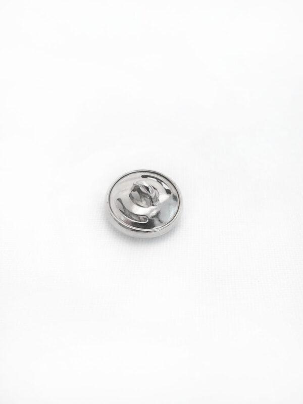 Пуговица металл серебро плетеная круглая (P0017) к14н - Фото 7