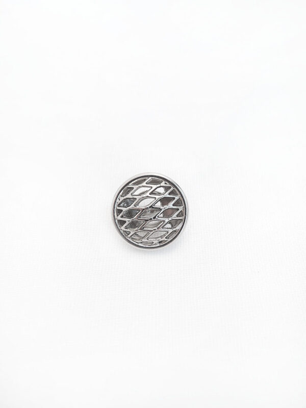Пуговица металл серебро плетеная круглая (P0017) к14н - Фото 6
