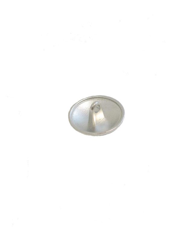 Пуговица металл серебро с выбитым бантиком (P0021) к2 - Фото 7