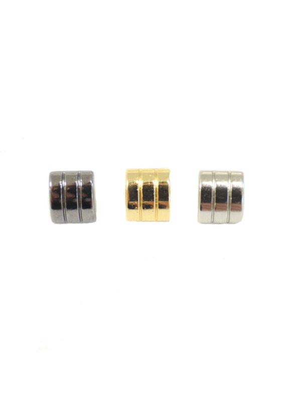 Пуговица квадратная на ножке серебро/золото/темное серебро (P0037-0038-0039) к14н - Фото 6