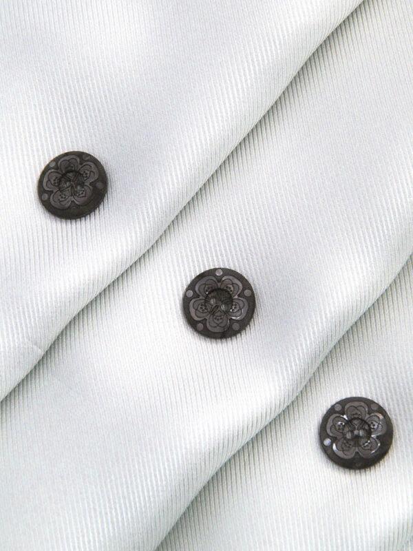 Пуговица пластик серая на два прокола с выбитым цветком (P0052) к16в - Фото 8