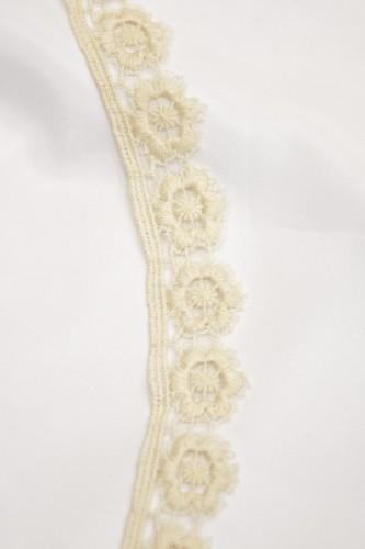 Тесьма кружевная макраме цветочный узор ваниль (t0053) т-2 - Фото 8