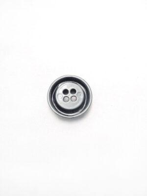 Пуговица металл серая на четыре прокола (p0084) к1 - Фото 12