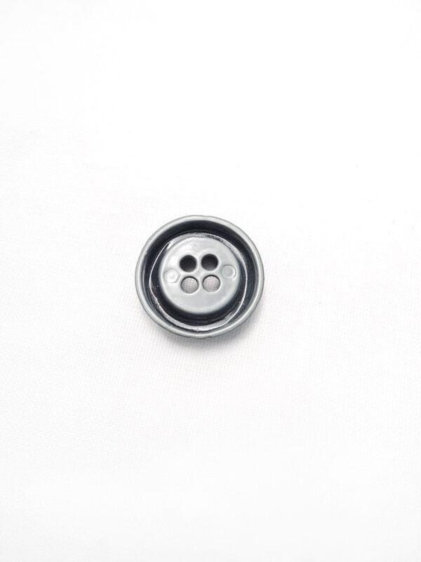 Пуговица металл серая на четыре прокола (p0084) к1 - Фото 7