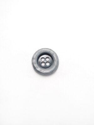 Пуговица металл серая на четыре прокола (p0084) к1 - Фото 11