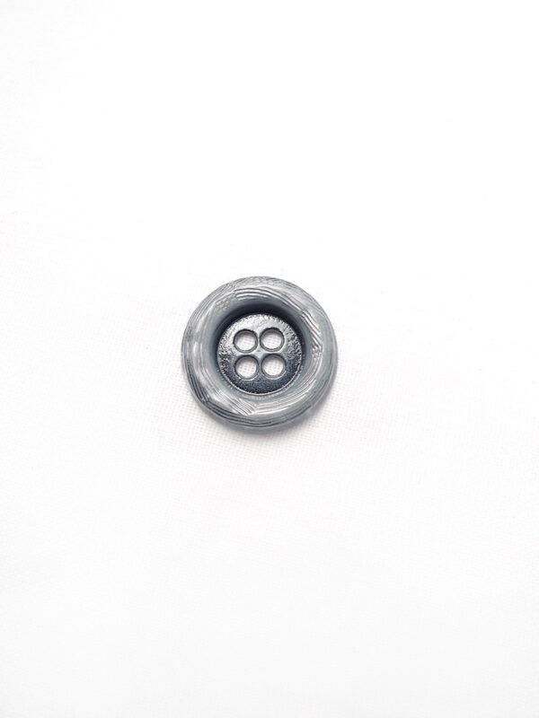 Пуговица металл серая на четыре прокола (p0084) к1 - Фото 6