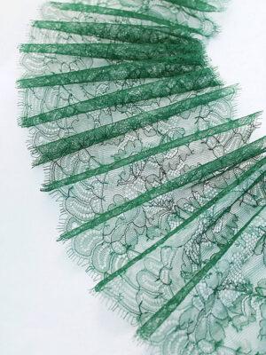 Кружево отделочное зеленое с фестонами (t0104) т-23 - Фото 9