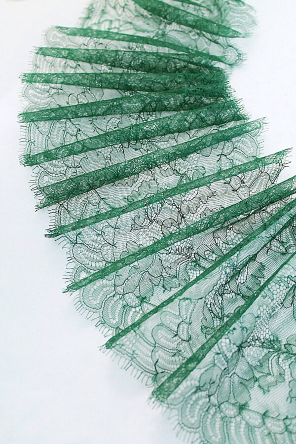 Кружево отделочное зеленое с фестонами (t0104) т-23 - Фото 6